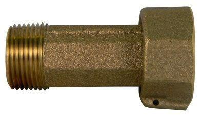"3/4"" x 3/4"", Meter Swivel Nut x MPT, 12"" L, Lead-Free, UNS C89833 Brass, Meter Coupling"
