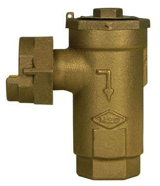 "3/4"", Yoke Star Nut x -22 CTS Compression, 175 PSIG, Lead-Free, Brass, Horizontal Mount, Angle, Dual Check Valve"