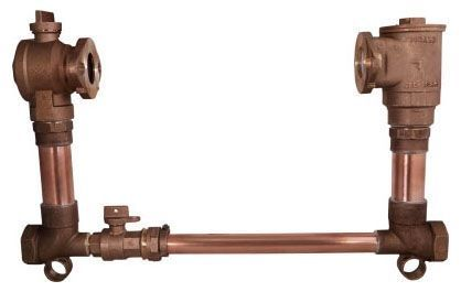 "12"" Setter Height, 2"" Pipe, FPT x FPT, 85 PSIG, Lead-Free, Brass, Lock Wing, Horizontal, Low Bypass, Meter Setter"