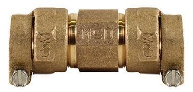 """2"""" x 2"""", -22 CTS Compression x -22 CTS Compression, Lead-Free, UNS C89833 Brass, Straight, Coupling"""