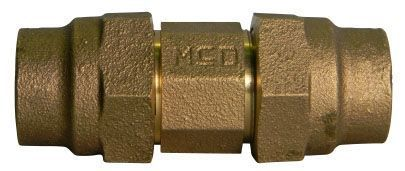 "1-1/2"" x 1-1/2"", G CTS Compression x G CTS Compression, Lead-Free, UNS C89833 Brass, Straight, Coupling"