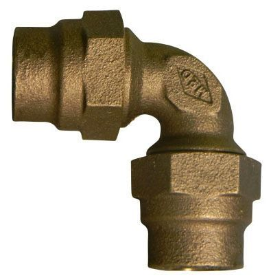 """3/4"""" x 3/4"""", G CTS Compression x G CTS Compression, Lead-Free, UNS C89833 Brass, 90D, Straight, Elbow"""