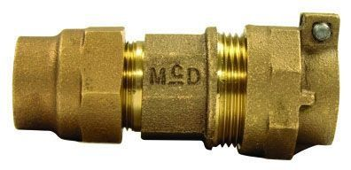 """2"""" x 2"""", G CTS Compression x -44 PVC Compression, Lead-Free, UNS C89833 Brass, Straight, Coupling"""
