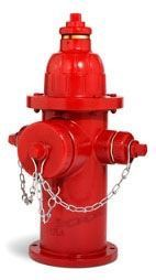 """5-1/4"""", Mechanical Joint, 4' Rough-In, 250 PSI, Lead-Free, Red, Left Hand Opening, Compression, Fire Hydrant"""