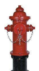"5-1/4"", Mechanical Joint, 4' Rough-In, 250 PSI, Red, Right Hand Opening, Compression, Fire Hydrant"