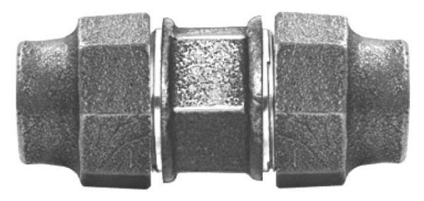 """2"""" x 2"""", CTS Grip Compression x CTS Grip Compression, Lead-Free, Brass, 3-Piece, Straight, Union with Brass Nut"""
