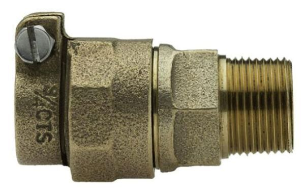 """2"""" x 2"""", CTS Pack Joint x MPT, Lead-Free, Brass Alloy, Straight, Coupling"""