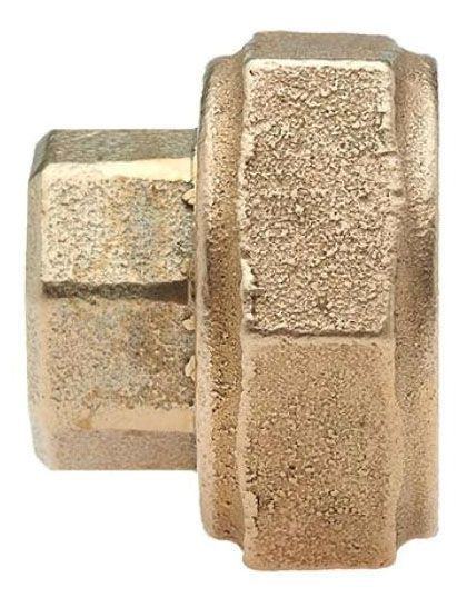 "5/8"" x 3/4"" x 3/4"" x 5/8"" x 3/4"" x 3/4"", Multi-Purpose NPT x FPT, Lead-Free, Brass Alloy, Straight, Coupling"