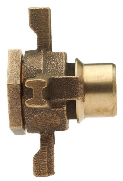 """Cast Brass Alloy, 3-Piece, Expansion Hand Wheel for 3/4"""" x 5/8"""" Iron Meter Yoke"""