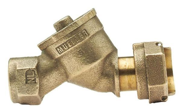 "5/8"" X 3/4"" X 3/4"" Dual Check Valve - MSN X FIP, Straight, Lead-Free, Cast Brass Alloy"