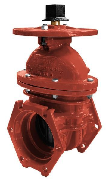"6"", Mechanical Joint x Mechanical Joint, 350 PSI, Lead-Free, Bronze Non-Rising Stem, Fusion Bonded Epoxy Coated Ductile Iron, Operating Nut, Resilient Wedge, Post Indicator, Gate Valve"