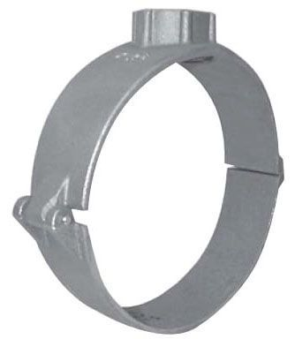 "2"", 3/4"" AWWA/CC Taper NPT Outlet, 200 PSIG, Bronze, Wide Strap, 2-Piece, Single Outlet, Hinged, Saddle for IPS PVC Pipe"
