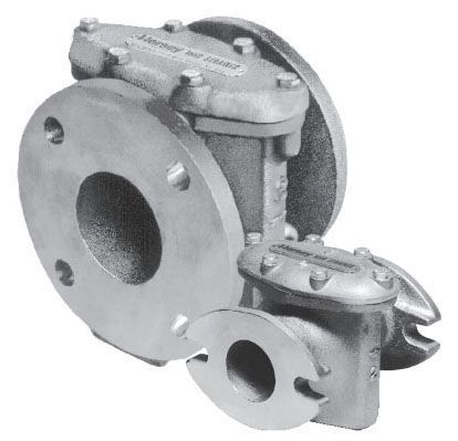"""4"""" x 4"""", Flanged x Flanged, 175 PSI, Bronze, Plate, Strainer Assembly"""