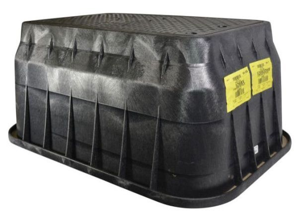 "18"" x 17"" x 30"", Black, Plastic, Bolt-Down, Drop-In, Meter Box"