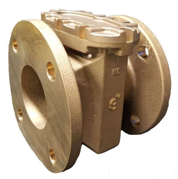 "3"", Round Flanged x Round Flanged, 150 PSI, Lead-Free, Bronze, Z-Plate, Meter Strainer"