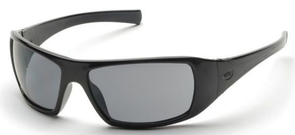 Grey Polycarbonate Lens, Black Frame, Scratch Resistant, Safety Glasses