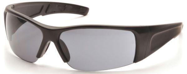 Grey Polycarbonate Lens, Matte Black Frame, Scratch Resistant, Safety Glasses