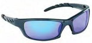 Purple Haze Polycarbonate Lens, Charcoal Frame, Wrap Around, Anti-Fog, Scratch Resistant, Safety Glasses