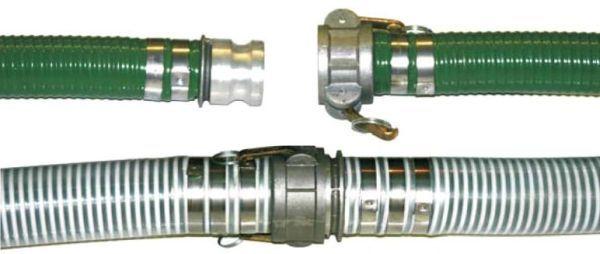 "3"" x 3.41"" x 25', 75 PSI, -5 to 140 Deg F, Green, PVC, Suction Hose"