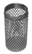 """3"""", Cold Rolled Steel, Round Hole Long, Strainer for Coupling Fitting"""