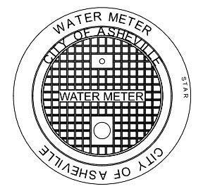 "21.5"" Diameter, Cast Iron, Water, Meter Box"