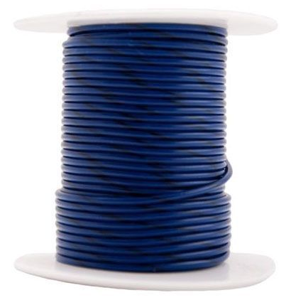 12 AWG, Blue HDPE Insulation, Copper Clad Steel Conductor, High Strength, Reinforced Tracer Wire (500' Spool)