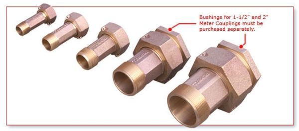 "2"", Lead-Free, Brass, Meter Flange Kit"