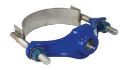 "6 to 8"", 1"" CC Outlet, 7.69 to 9.05"" OD Pipe, 200 PSI, Lead-Free, Ductile Iron, Single Strap, Service Saddle"