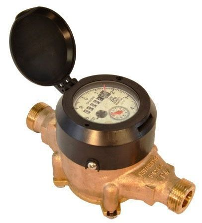 "5/8"" x 3/4"", 30 GPM, Lead-Free, Brass Alloy Main Case, Synthetic Polymer Measuring Chamber, Multi-Jet, Direct Read Register, Magnetic Drive Water Meter"