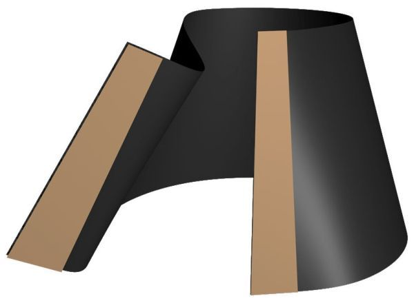 """12"""" x 24"""", Black, 1/8"""" Thick Neoprene Rubber, End Seal for Casing Pipe"""
