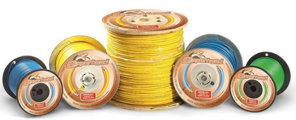500' Spool, 12 AWG, 45 Mil Thick, Blue, Copper Clad Steel Conductor, HDPE Insulation, Extra High Strength, Tracer Wire