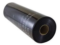 "29"" x 200', 8 Mil Tape, 4595 PSI Tensile Strength, 1946 Volume per Mil Dielectric Strength, Black, Low Density Polyethylene, Printed, Polywrap"