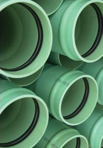 "10"" x 14' SDR26 PVC Sewer Pipe - Heavy Wall, Gasketed"
