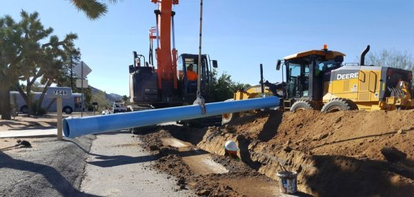 "8"" x 20', Blue, PVC, Seismic Resistant Water Pipe"