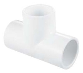 5922155 PVC 401-025 2-1/2 TEE HXHXH