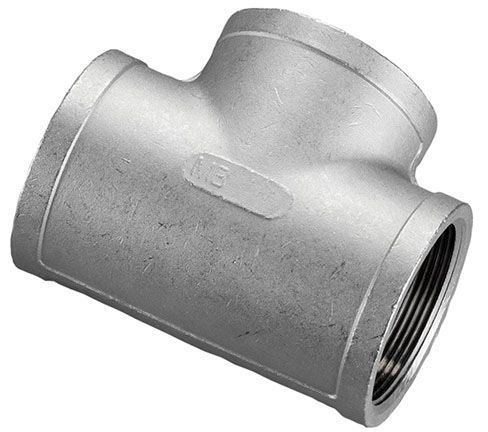 """3/4"""" x 3/4"""" x 3/4"""", FPT x FPT x FPT, 316 Stainless Steel, Tee"""