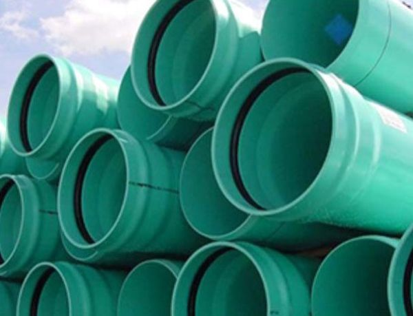 """24"""" x 14' SDR26 PVC Sewer Pipe - Heavy Wall, Gasketed"""