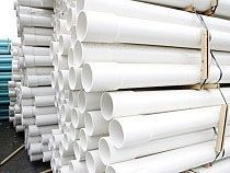 """6"""" x 20', Schedule 40, Belled End, PVC, Perforated Pressure Pipe"""