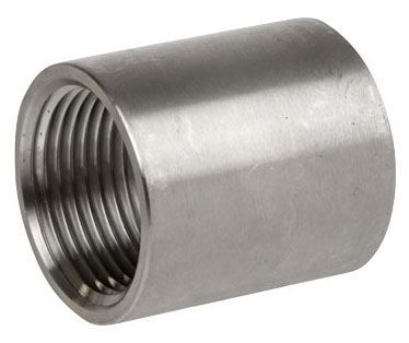 "2"" x 2"", FPT x FPT, 150 PSI, Heavy Pattern, 316 Stainless Steel, Straight, Coupling"
