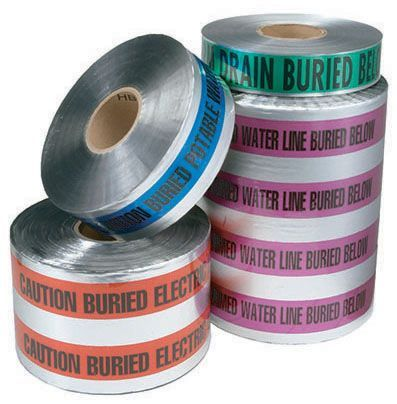 """12"""" x 1000', Blue, Detectable Tape"""