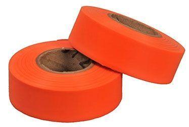 """1-3/16"""" x 150', Orange, Plastic, Flagging Tape"""