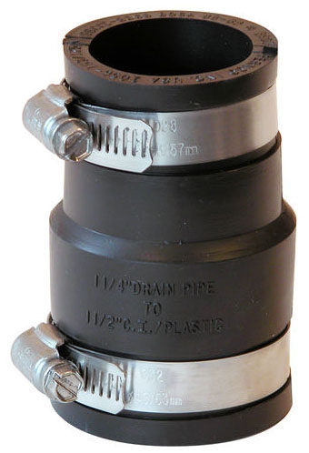 """1-1/2"""" x 1-1/4"""" All Pipe Rubber Coupling"""