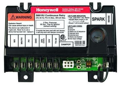 "Honeywell SUPER TRADELINE® Universal Intermittent Pilot Ignition Module, 5-7/16"" x 2-5/8"" x 3-15/16"", 24 VAC, 30 Sec Prepurge, Continuous Retry"