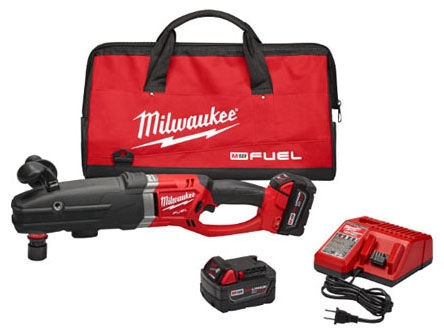 """Milwaukee Tool M18 FUEL™ SUPER HAWG™ Drill Kit, 18 V, 7/16"""" Quik-Lok Chuck, 0 to 350/0 to 950 RPM, 1-Handed"""