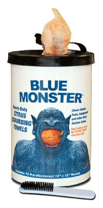 Hand & Tool Cleaning Towels Blue Monster