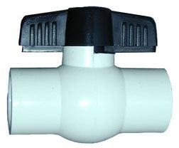 "3/4"", Slip x Slip, 150 PSI, Lead-Free, PVC Body, Molded-In-Place, Compact, Ball Valve"