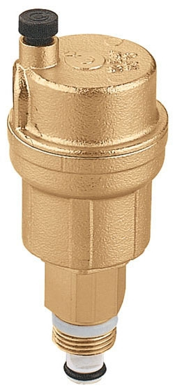 """Caleffi ROBOCAL™ Air Vent Valve with Service Check Valve, 1/8"""", MPT, 150 PSI, Brass, Automatic"""