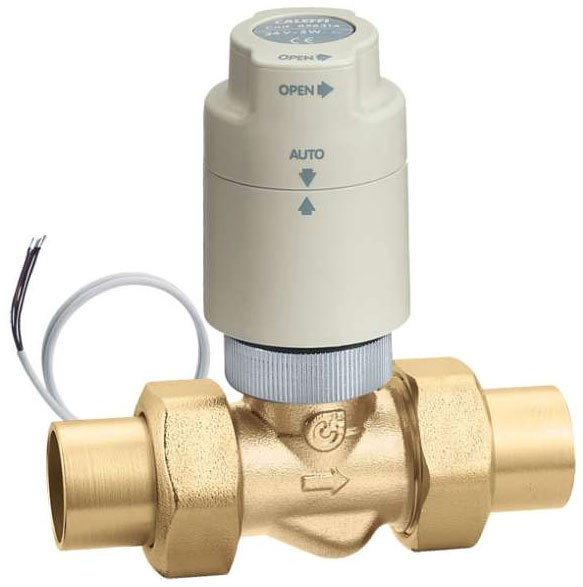"Caleffi 2 Way Zone Valve 3/4"" Sweat 24V with Actuator"