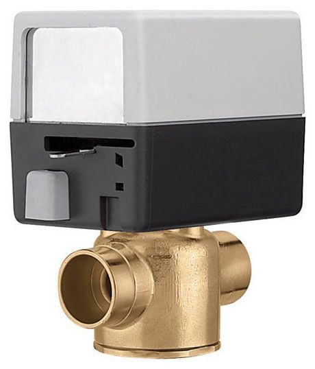 "Caleffi Z4 2 Way Zone Valve 3/4"" Sweat 24V with Actuator"