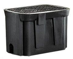 "17"" x 2"" x 30"", Black, High Density Polyethylene, Logo WATER METER, Rectangular, Heavy Duty, Meter Box Lid"